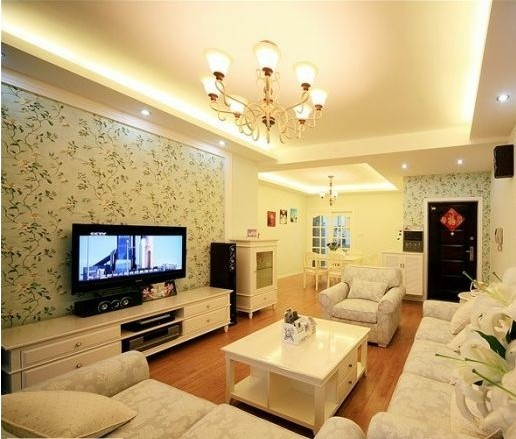 公寓客廳吊頂韓式裝修效果圖
